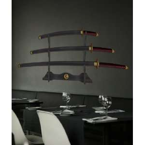 Wall Decal Sticker Japanese Samurai Swords #JH199m