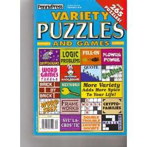 Variety Puzzles and Games (Penny Press, February 2010) Various Books