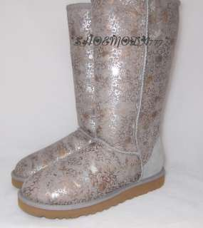 Fancy Boots Light Gray Marbled Logo New US 7 8 9 UK 5.5 6.5 7.5