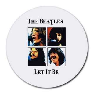 New THE BEATLES LET IT BE Large Round Mousepad Mat #1