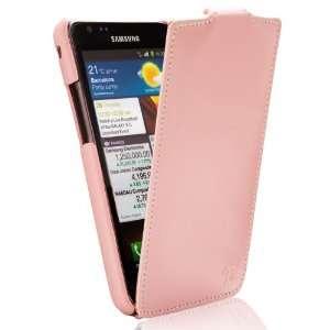 S2 I9100 Tradition Ultra Slim Leather Flip Case Pink Electronics