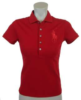 NEW NWT POLO RALPH LAUREN SPORT WOMENS BIG PONY SHORT SLEEVE POLO