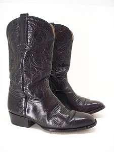 14 I MENS MONTANA black leather cowboy boots Size 10 D