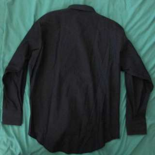 Vtg WRANGLER Dark Blue Denim USA Pearl Snap Western Cowboy Jean Shirt