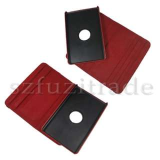 Rotating Leather Case Cover Skin+Film For  Kindle Fire 7