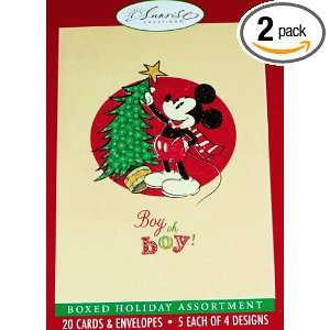 DISNEY MICKEY MOUSE Boy, oh boy CHRISTMAS HOLIDAY CARDS