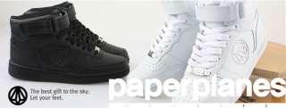 New MENS Paperplanes Air Force Basic Black Hi top Mid