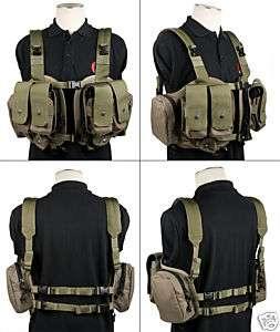 Pantac Split Front Chest Vest Ranger Green VT C017 RG A