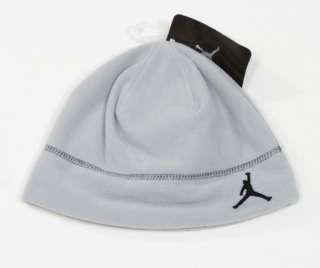 Nike Jordan Jumpman Logo Gray Fleece Beanie Skull Cap Boys 8 20 NWT