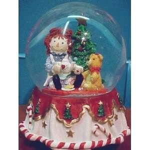 Ann & Teddy Bear Christmas Waterglobe by Kurt Adler