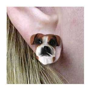 Boxer   Dog Figurine Jewelry   Natural Ears Boxer