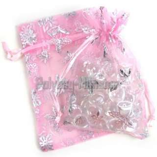 200 Pink Christmas Gift Bags Jewelry Favor Pouches 4X6