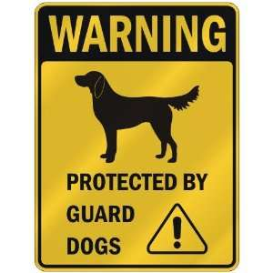 FLAT COATED RETRIEVER PROTECTED BY GUARD DOGS  PARKING SIGN DOG: Home