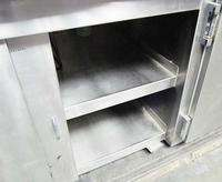 REFRIGERATED 108x30 STAINLESS STEEL FOOD PREP COUNTER