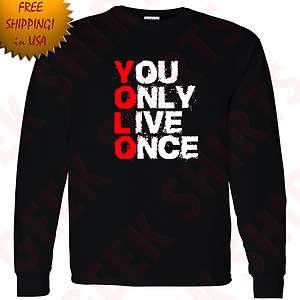 Once Drake Long Sleeve t shirt OVOxo YOLO tee WIZ shirt YL 5X 7