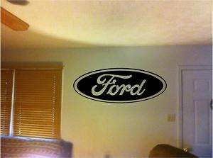 HUGE Ford Car Truck Logo Vinyl Wall Art Sticker