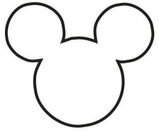 MICKEY MOUSE HEAD OUTLINE DISNEY STICKER/DECAL CHOOSE SIZE/COLOR