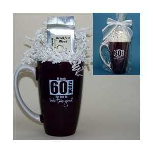 Gourmet Coffee Mug Gift Package   60th Birthday Gift Kitchen & Dining