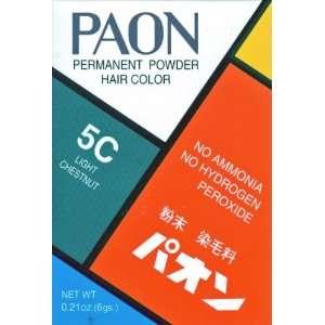 Paon Permanen Powder Hair Color 5C Ligh Chesnu 0.21 Oz