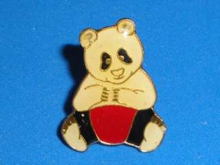 Hat Pin Metal Enamel Vintage 80s Cute Animal Pinback Free Ship