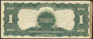 LARGE 1899 $1 DOLLAR BILL SILVER CERTIFICATE BLACK EAGLE BANK NOTE Fr