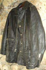 Harley Davidson Full Force Leather Jacket 3/4 Length Coat 98208 96VM