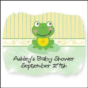 Froggy Frog   16 Squiggle Personalized Baby Shower Sticker