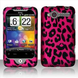 Pink Leopard Hard Case Cover For HTC Wildfire 6225 G8