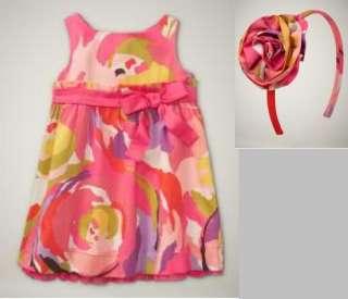 NWT Baby Gap Portobello Flower Dress Headband Hair 4 4T