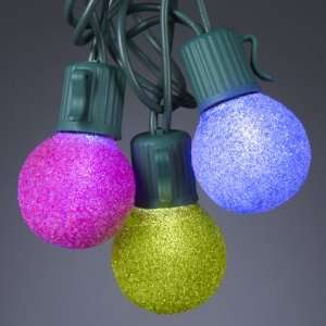 Multi Color G30 Globe Christmas Lights   Green Wire