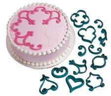 Decorator Pattern Press Set Fondant Cutter Garnish 2104 3160