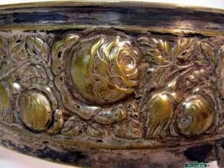 German Art Nouveau Silver & Glass Centerpiece Bowl 1920