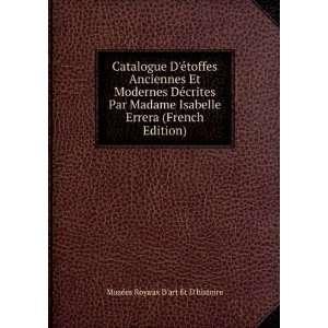 Errera (French Edition) Musées Royaux Dart Et Dhistoire Books