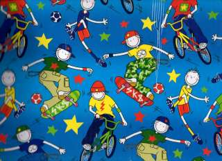 LITTLE BOY BIRTHDAY WRAPPING PAPER GIFT WRAP 2 X SHEETS 2X TAGS