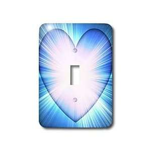 Patricia Sanders Creations   Blue Heart Light  Abstract