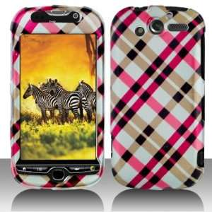 HTC myTouch 4G Hot Pink Plaid Hard Case Snap on Cover