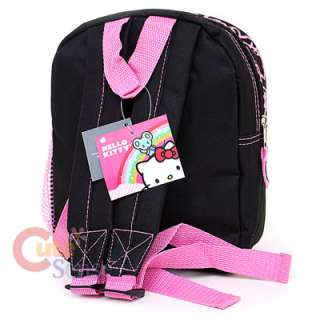Kitty School Backpack Toddler Bag 10 Black Pink Glittering Face
