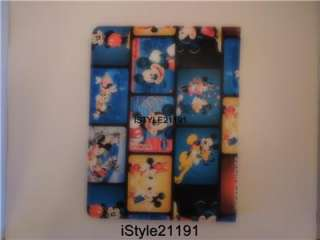 Leather Stand Case Cover For New iPad 2nd Gen Mickey Mouse Blue