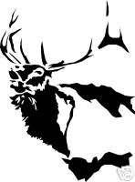 Elk Bull Chevy Ford Archery Bow Hunter decal sticker