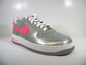 315115 009 New Nike WMNS Air Force 1 Med grey/pink US