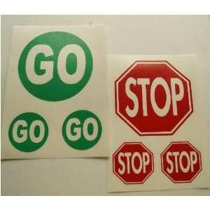 STOP & GO SIGN Vinyl Decals Stickers Sets of 3 NEW
