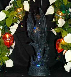 Black Medieval Dragon LED Light w/ Crystal
