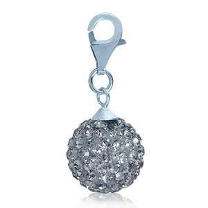 Nagara Crystal Ball 925 Sterling Silver Dangle Charm