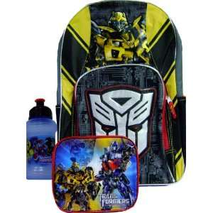 New Transformers 3D Backpack Matching Lunch Box & Water Bottle Toys