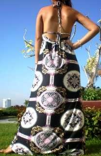 NEW Evening Woman Lady Sexy Long Maxi Dress + Earrings