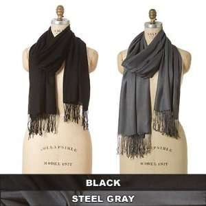 Naturally Knotty Luxurious Wraps,100% Bamboo Fiber, Steel Grey