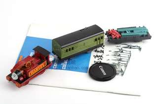 TOMY PLARAIL THOMAS FRIEND HARVEY WITH 2 TRUCKS