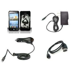 LG Spectrum (Verizon) Premium Combo Pack   Black and White Ace Spade