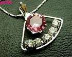 1pcs Crystal Sector Charm pendant necklace p0196