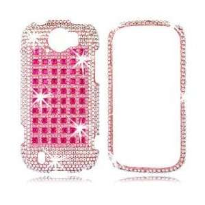 HTC MyTouch Slide 4G   Pink Studs   T Mobile    Case    Hot Pink Phone